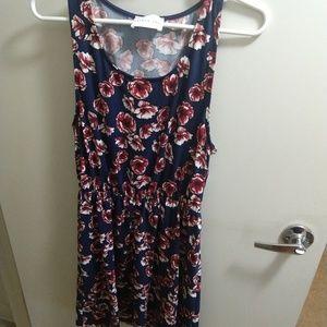 French Grey Stitch Fix floral tank dress